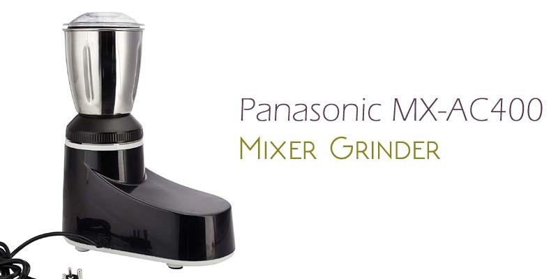 Panasonic MX-AC400 550-Watt Super Mixer Grinder with 4 Jars