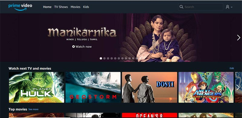 Amazon Prime Video OTT Platform