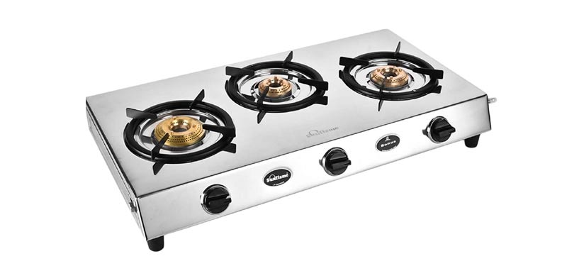 sunflame stainless steel gas stove