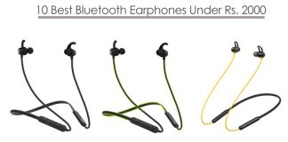 Bluetooth Earphones Under 2000