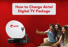 Change Airtel DTH Packages