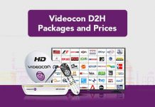 Videocon D2H Packages and Prices
