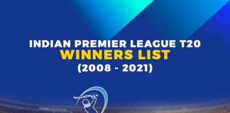 Indian Premier League T20 Winners List